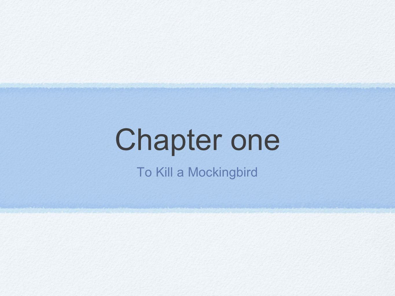 to kill a mockingbird chapter responses Student response by halie buchanan harlem written by langston hughes, and to kill a mockingbird, chapter 24 by harper lee emphasizes that when people's dreams are unfulfilled they whither up and die in the.