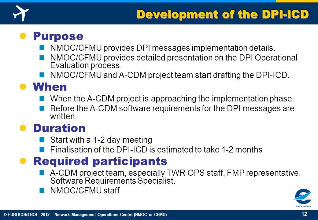 Development of the DPI-ICD
