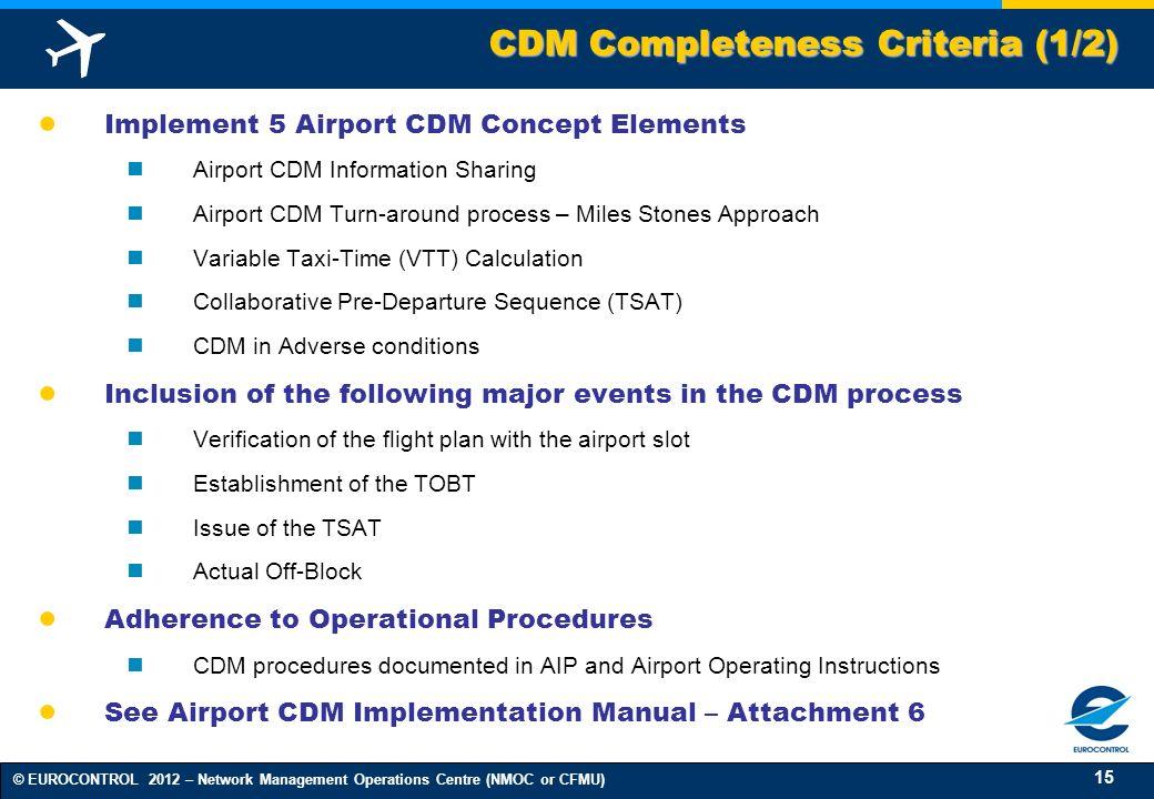 CDM Completeness Criteria (1/2)