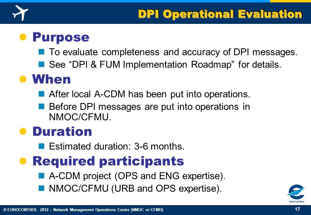 DPI Operational Evaluation