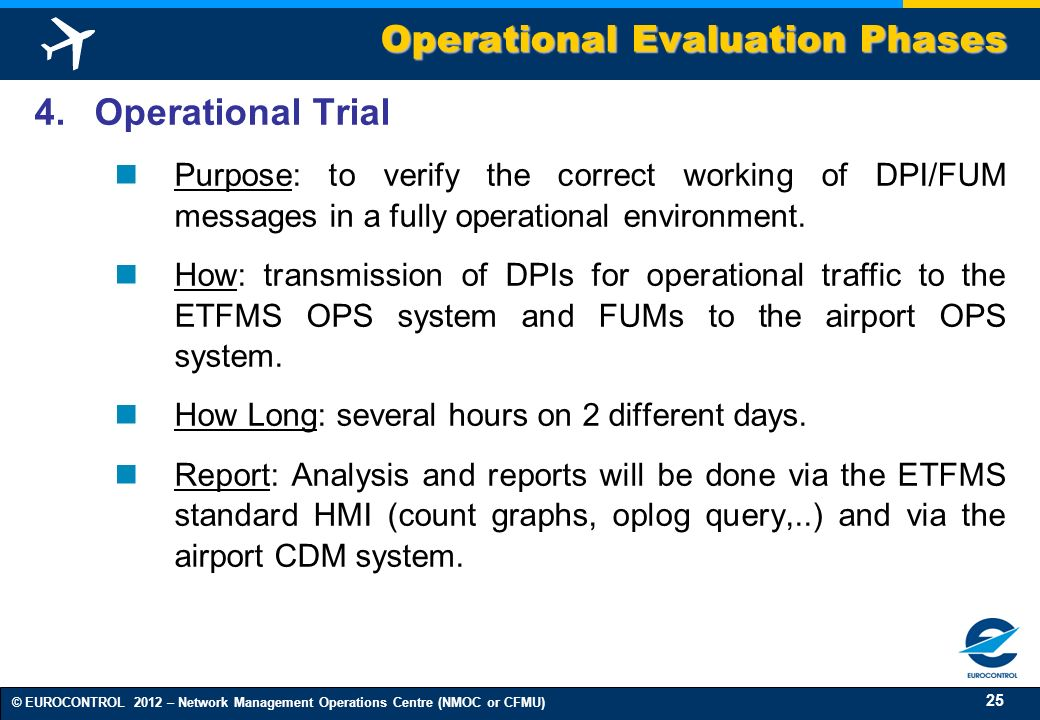 Operational Evaluation Phases