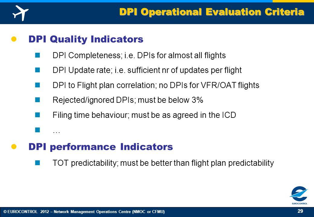 DPI Operational Evaluation Criteria
