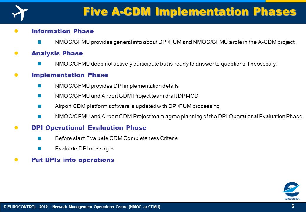 Five A-CDM Implementation Phases