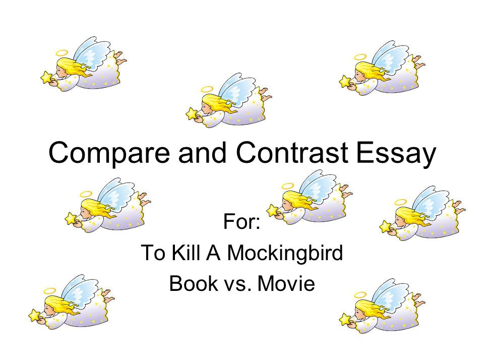 Compare and contrast two books essay