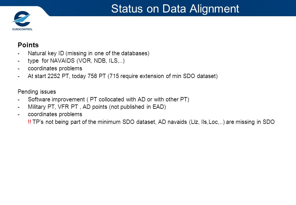 Status on Data Alignment