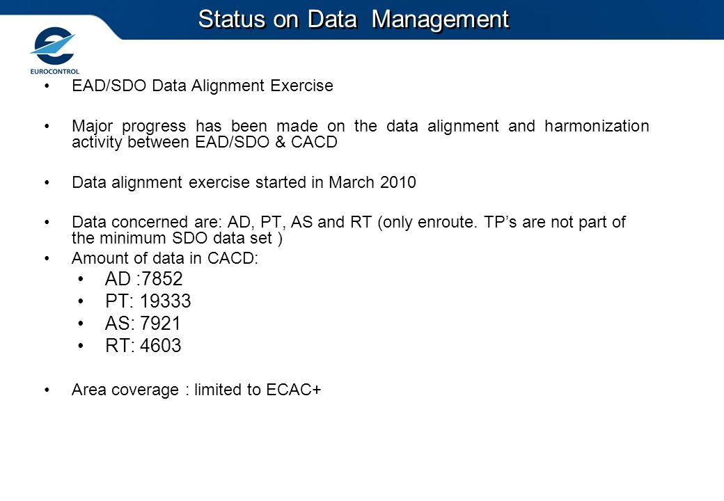 Status on Data Management