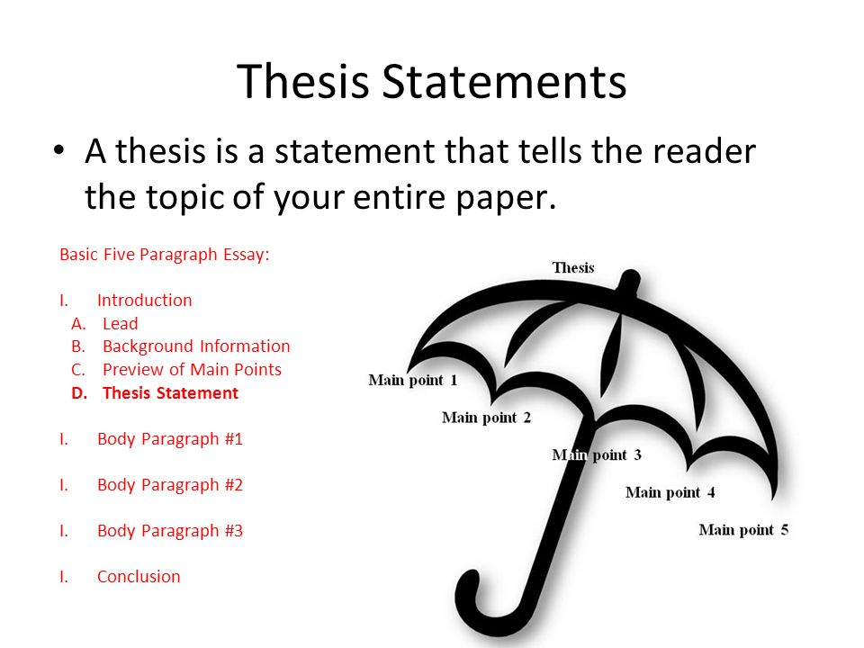 Writing A Good Thesis Statement Powerpoint Elementary
