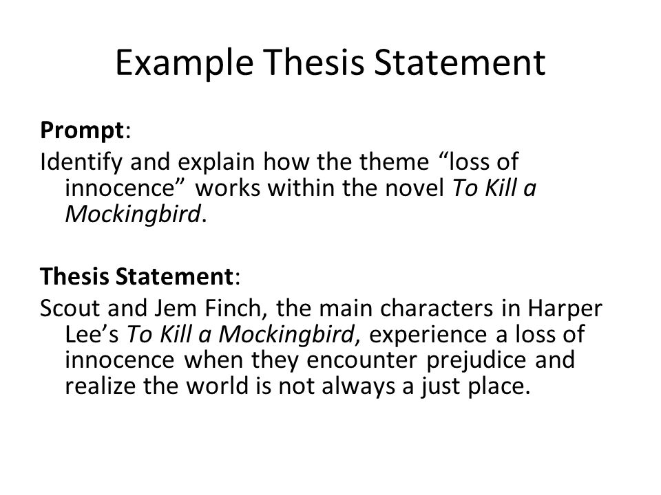 Thesis Statements A Thesis Is A Statement That Tells The Reader