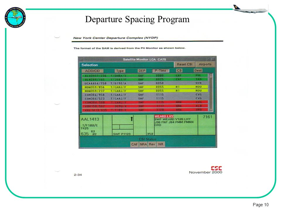 Departure Spacing Program