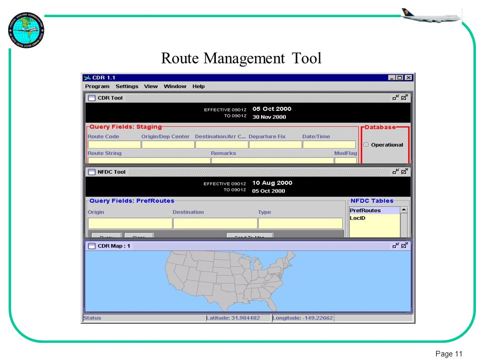 Route Management Tool