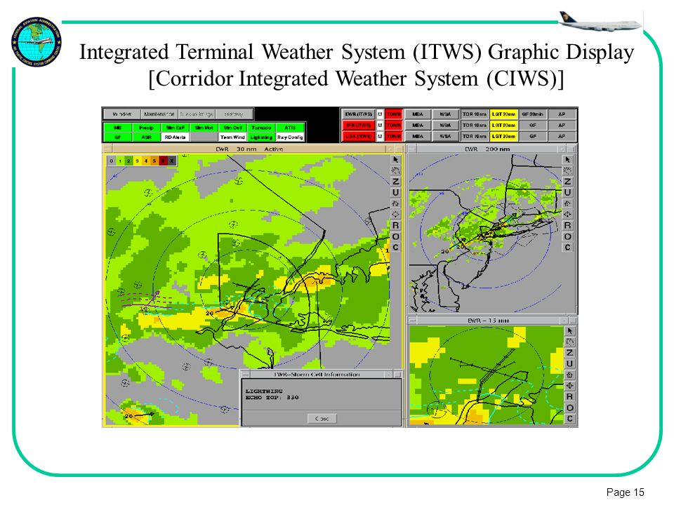 Integrated Terminal Weather System (ITWS) Graphic Display