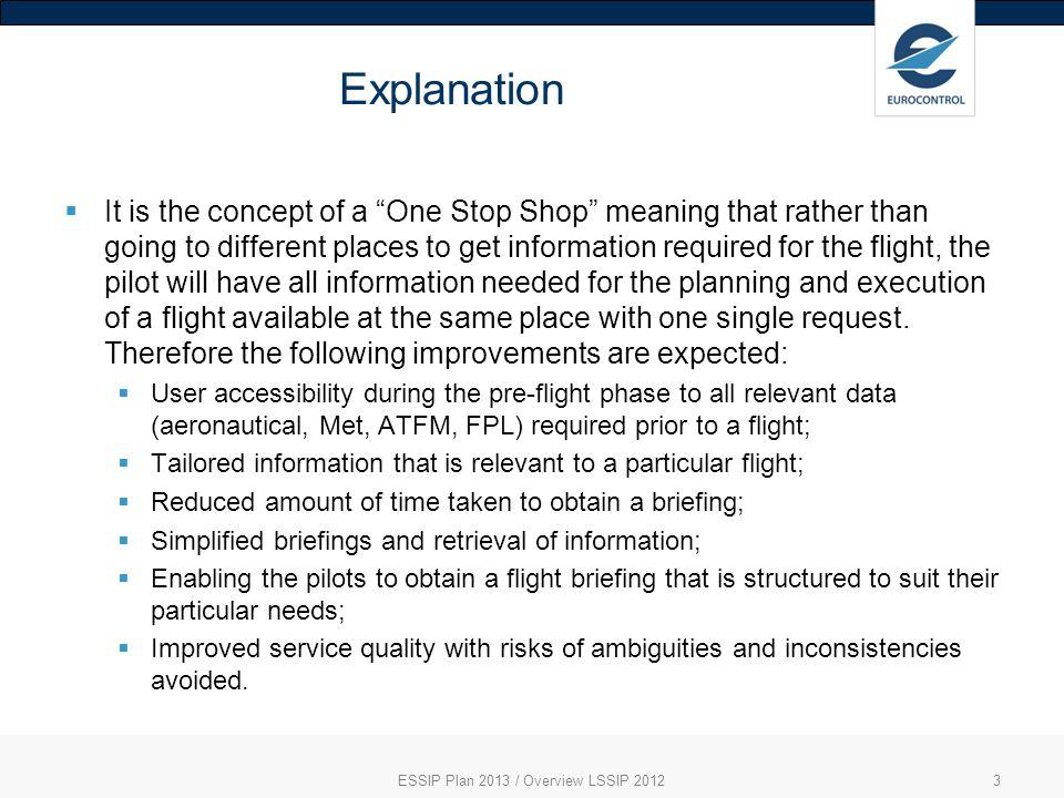 ESSIP Plan 2013 / Overview LSSIP 2012