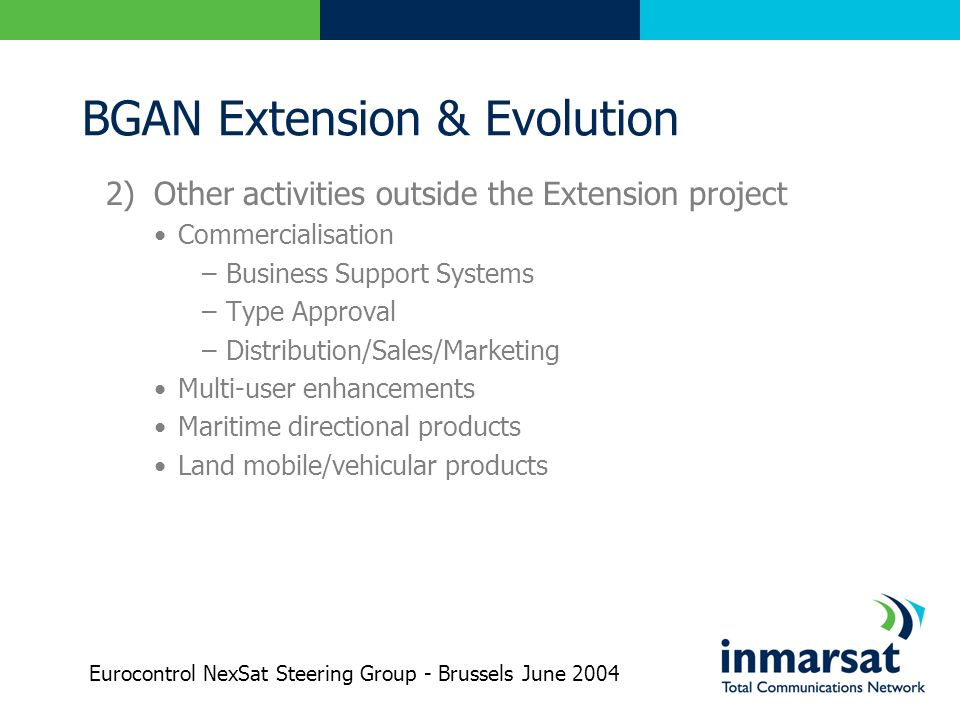 BGAN Extension & Evolution