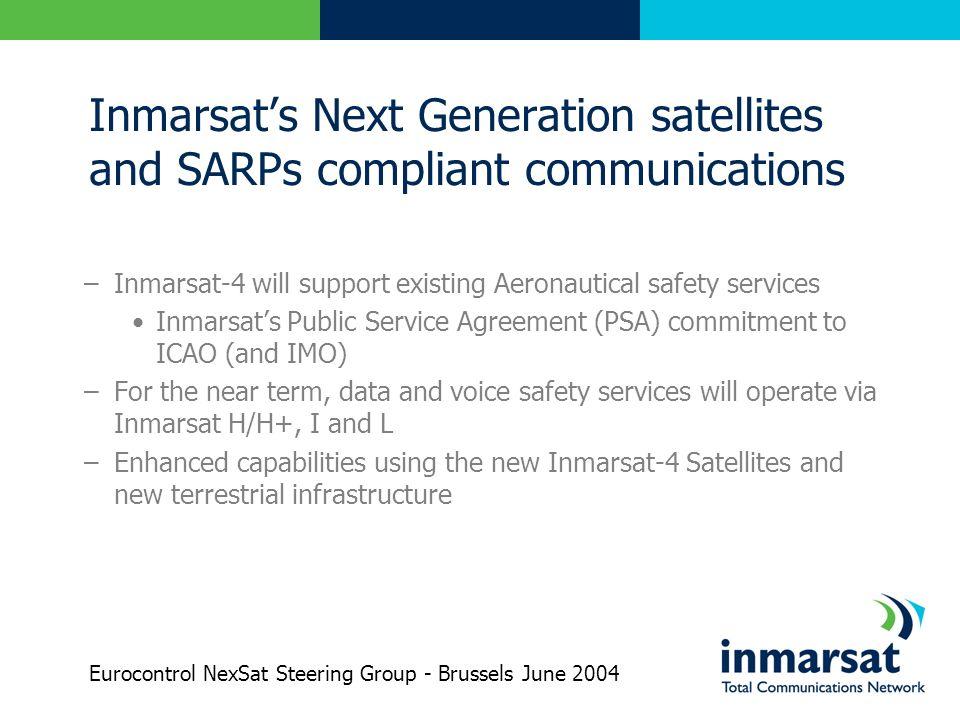 Inmarsat's Next Generation satellites and SARPs compliant communications