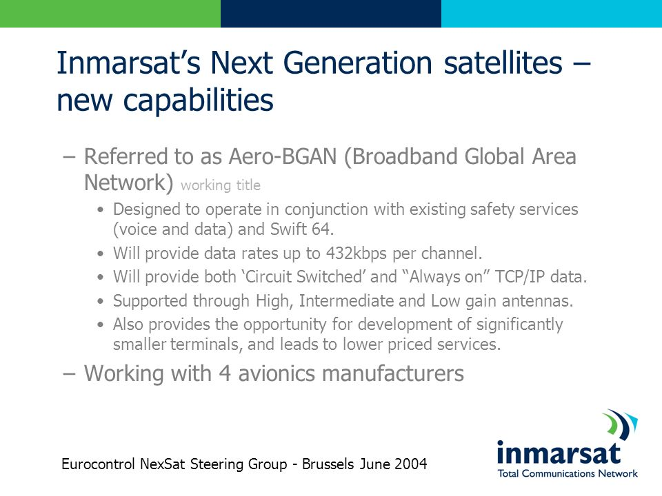 Inmarsat's Next Generation satellites – new capabilities