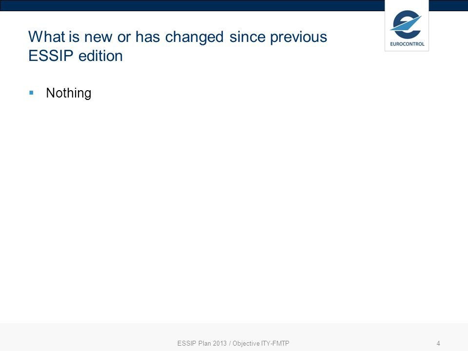 What is new or has changed since previous ESSIP edition