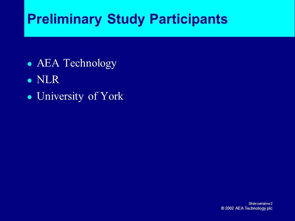Preliminary Study Participants