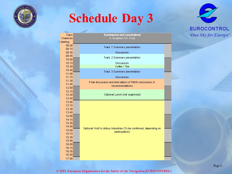 Schedule Day 3