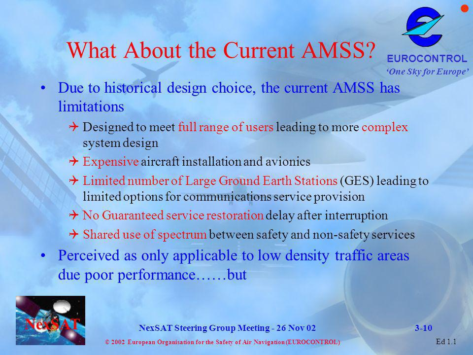 What About the Current AMSS