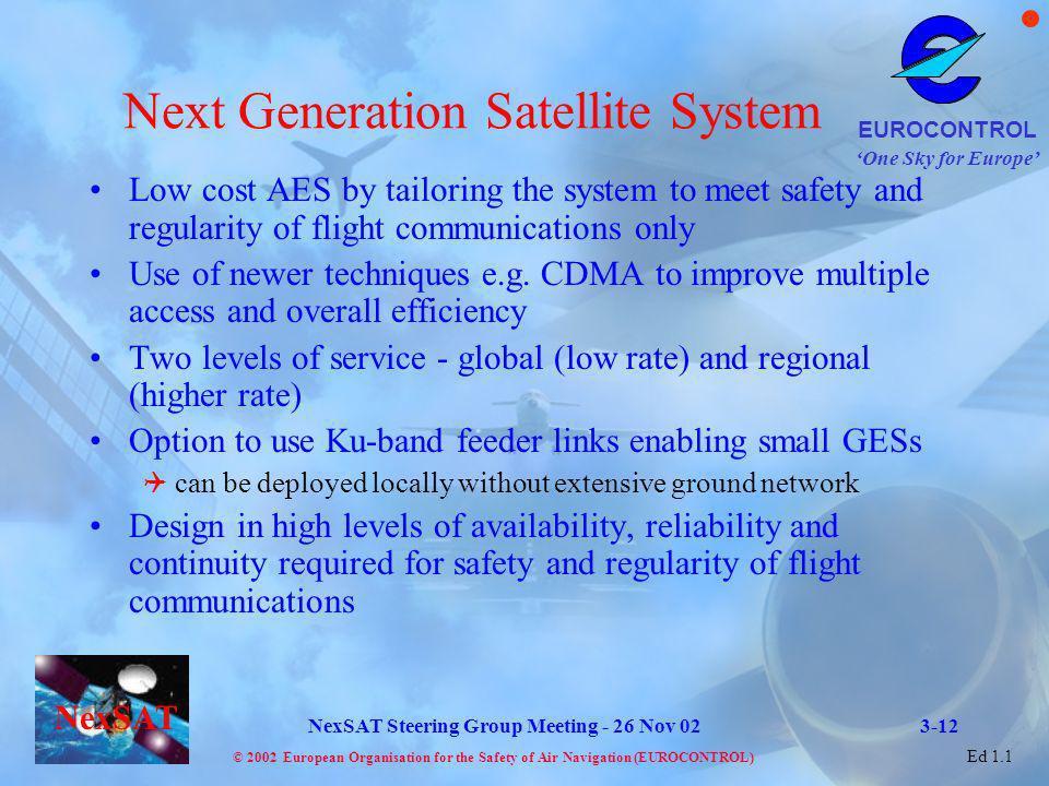 Next Generation Satellite System
