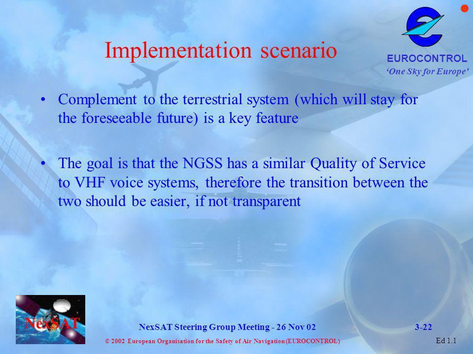 Implementation scenario