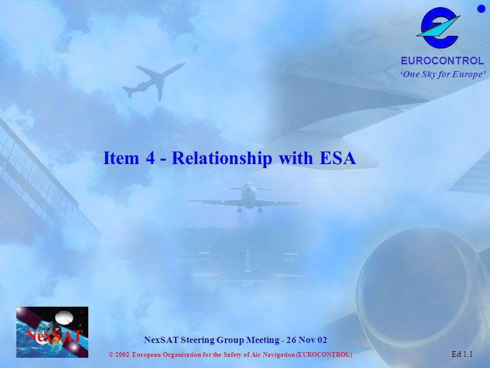 Item 4 - Relationship with ESA