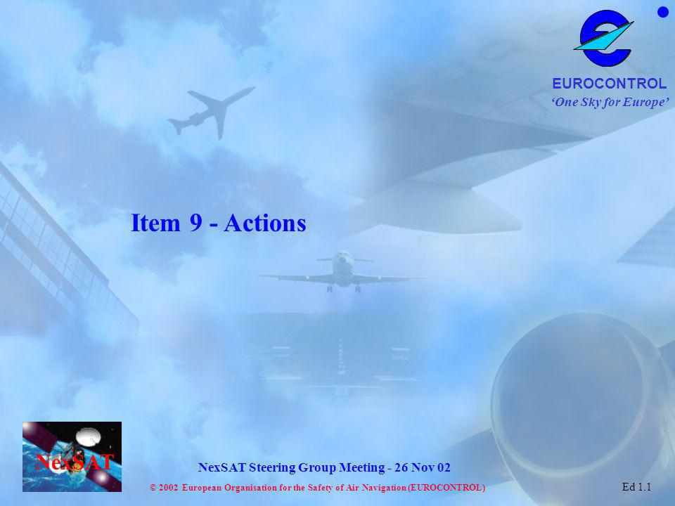 Item 9 - Actions