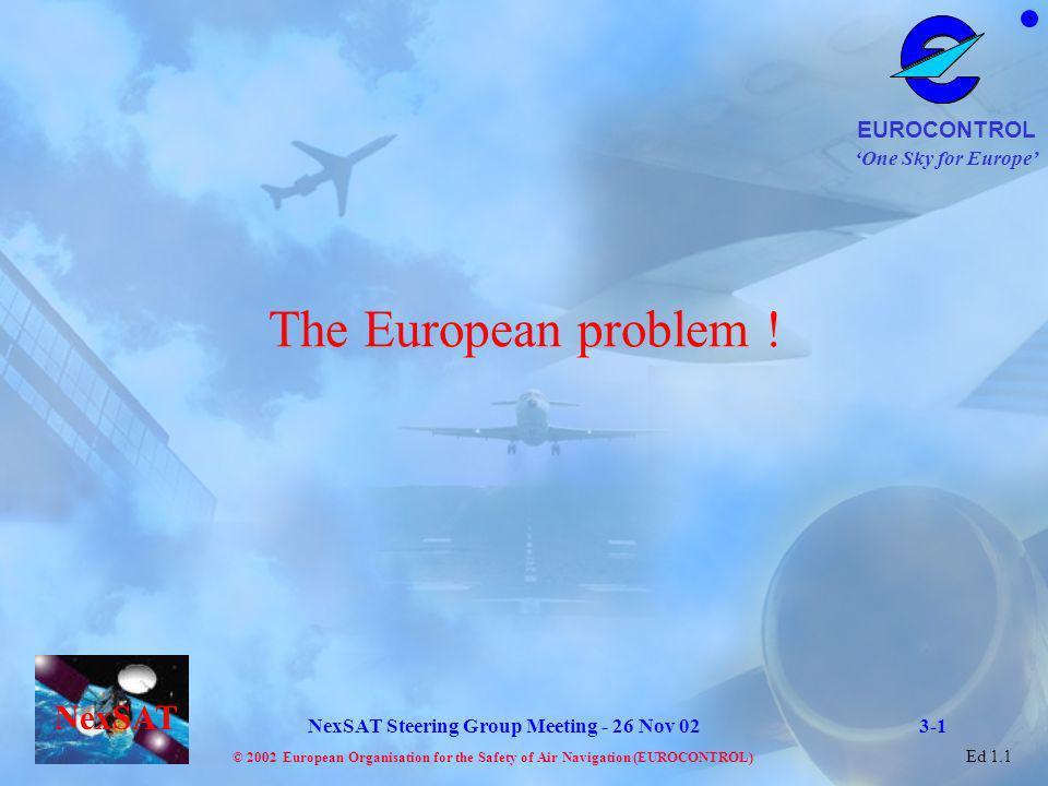 The European problem ! 3-1