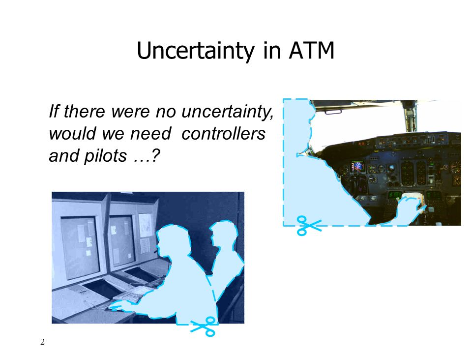 Uncertainty in ATM If there were no uncertainty, would we need controllers and pilots …
