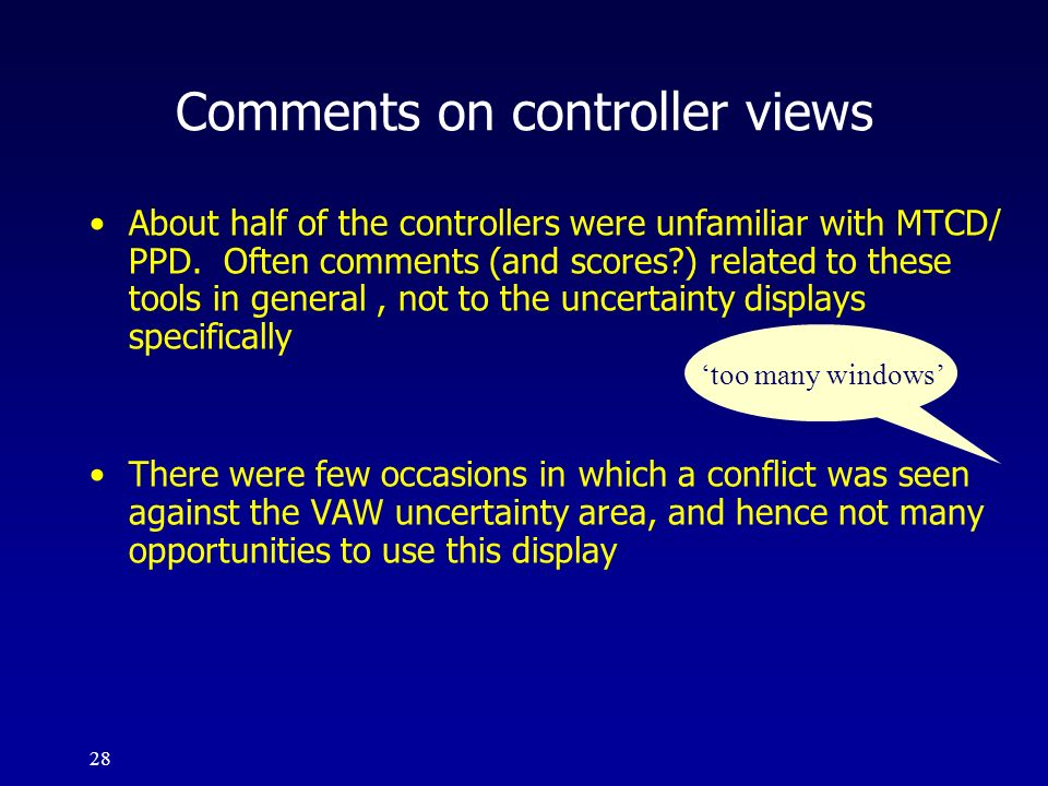 Comments on controller views