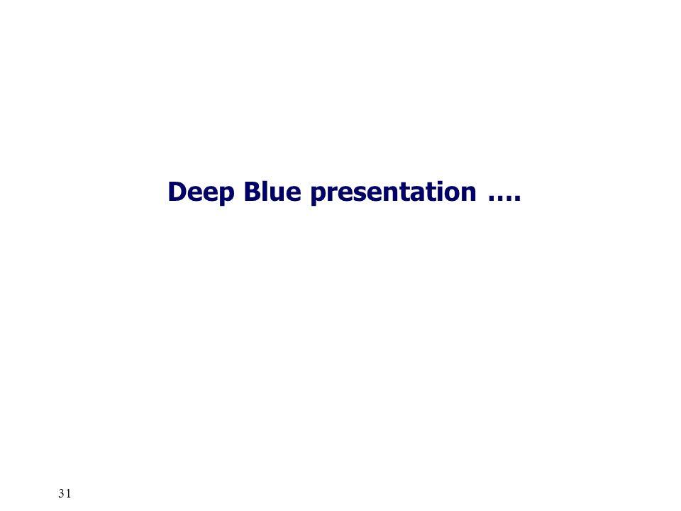 Deep Blue presentation ….