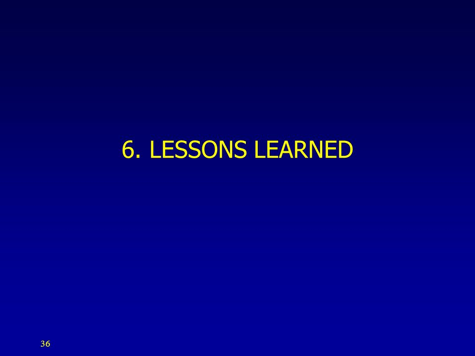 6. LESSONS LEARNED