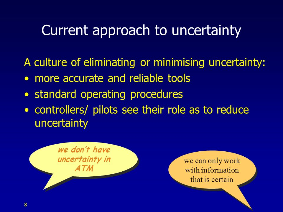 Current approach to uncertainty