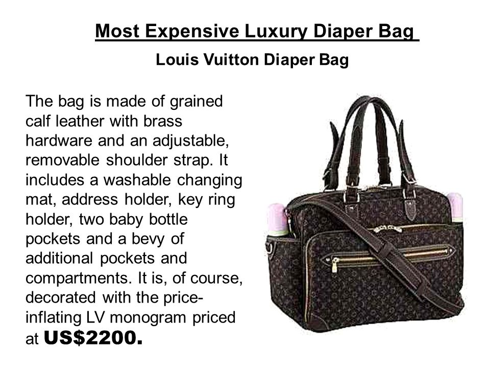 Most Expensive Luxury Diaper Bag
