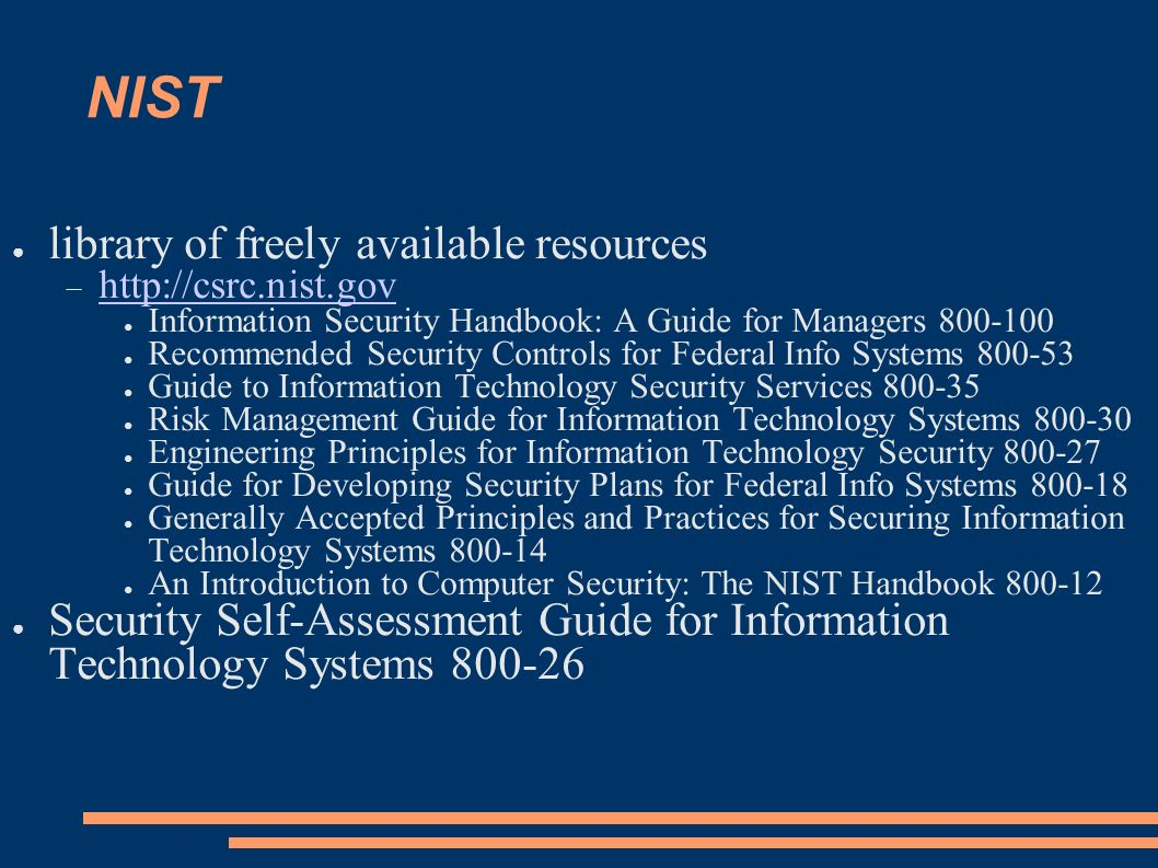 NIST library of freely available resources