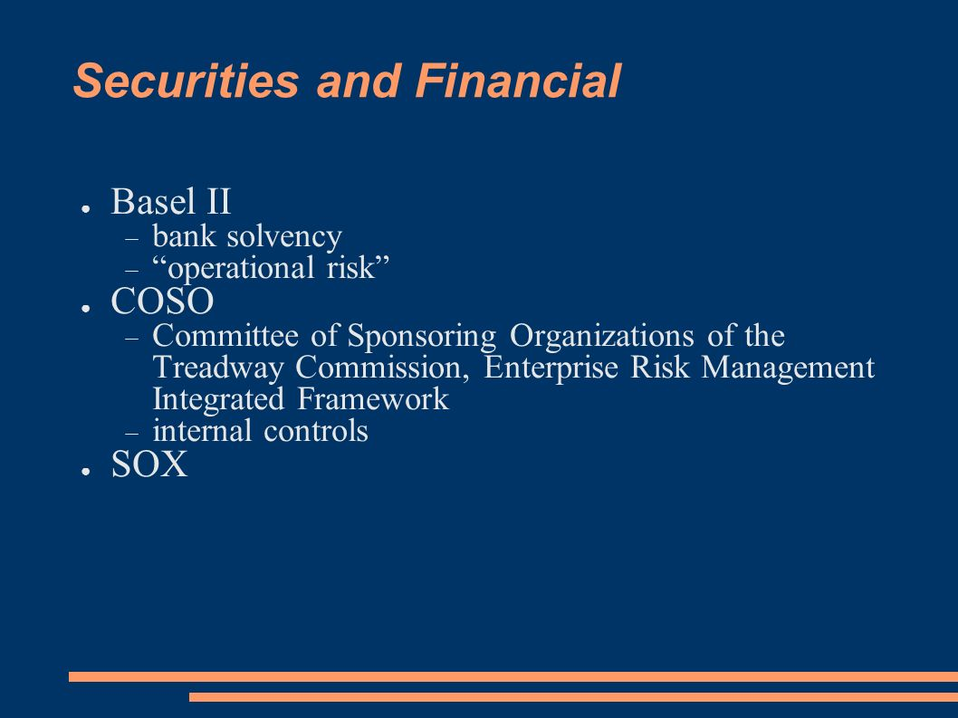 Securities and Financial