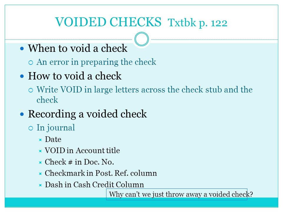 how to write a void check for direct deposit