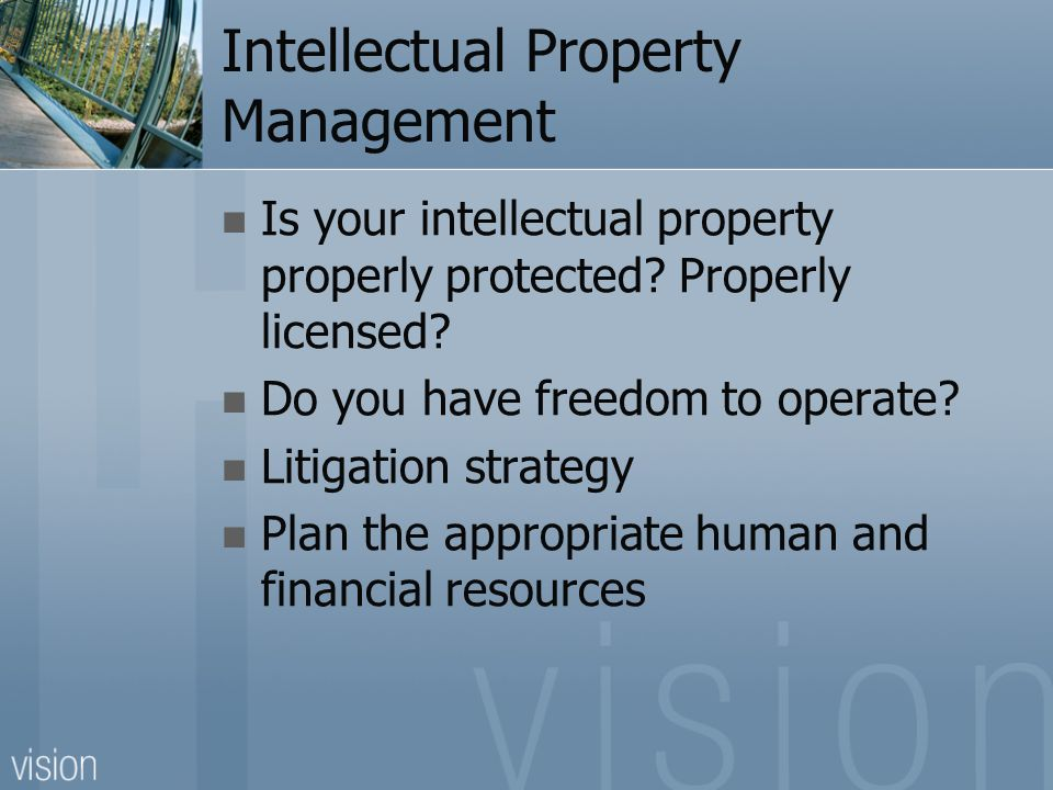 business plan intellectual property rights