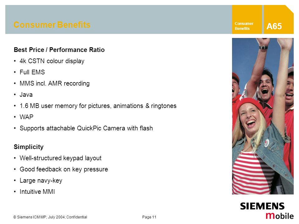 A65 Consumer Benefits Best Price / Performance Ratio