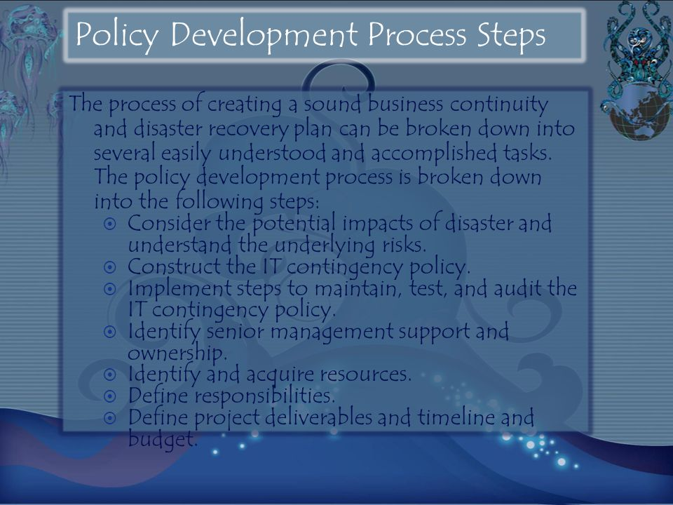 Policy Development Process Steps