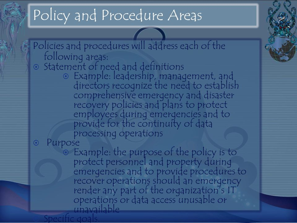 Policy and Procedure Areas