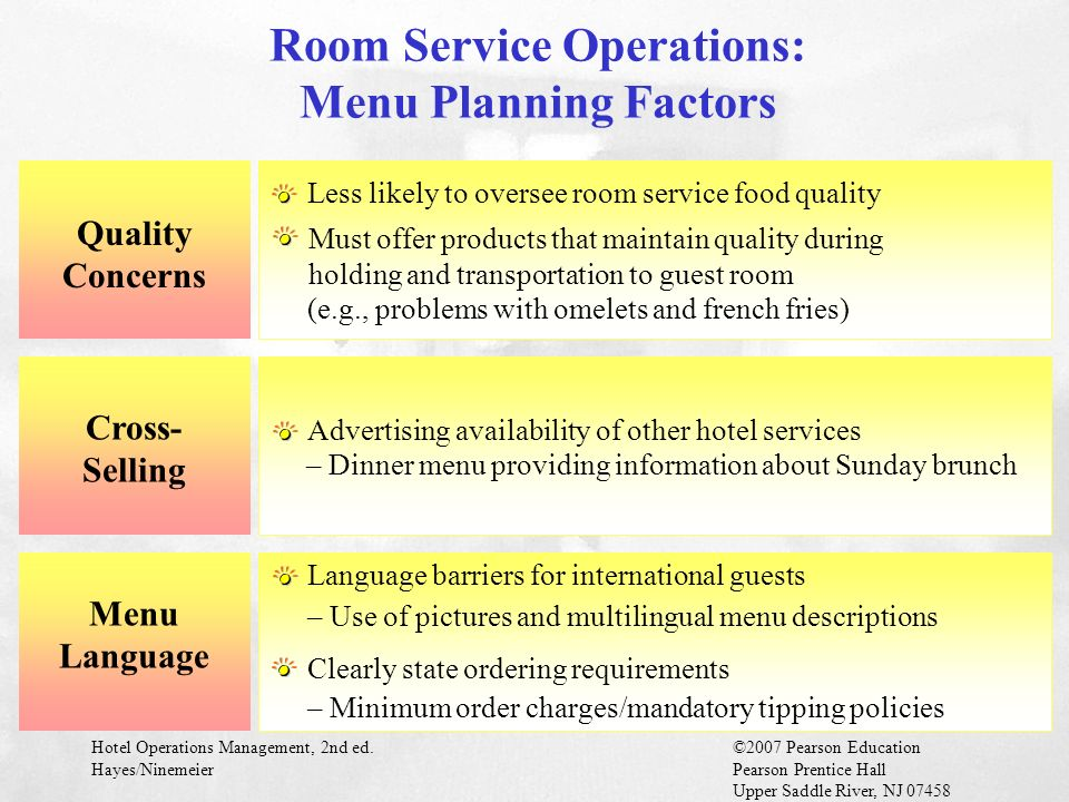How Likely Are Hotel Guests To Order Room Service