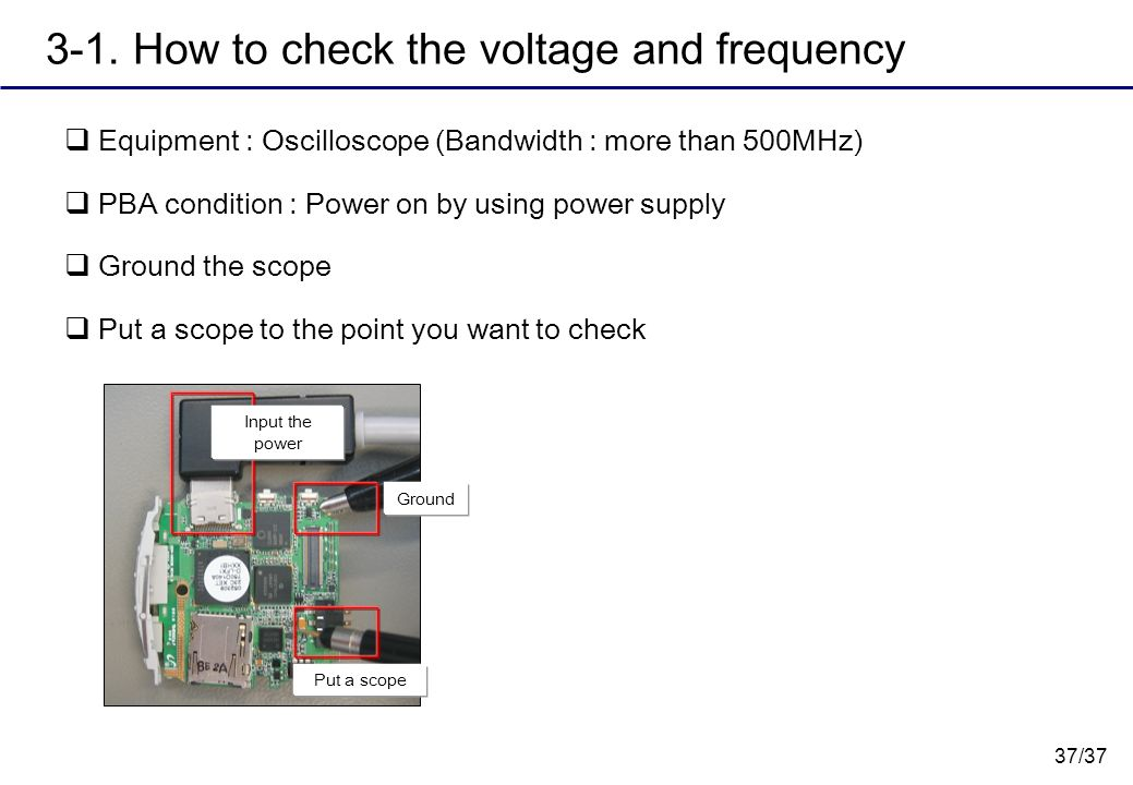 3-1. How to check the voltage and frequency