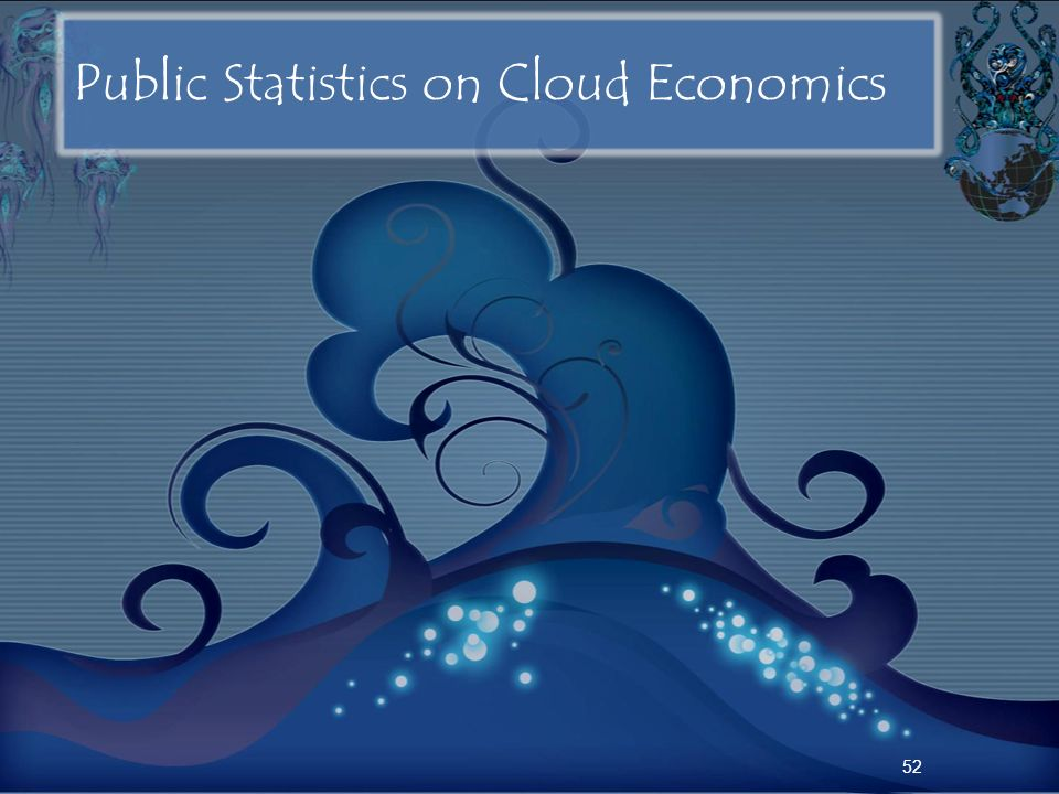 Public Statistics on Cloud Economics