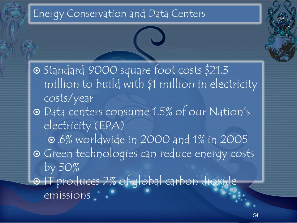 Energy Conservation and Data Centers