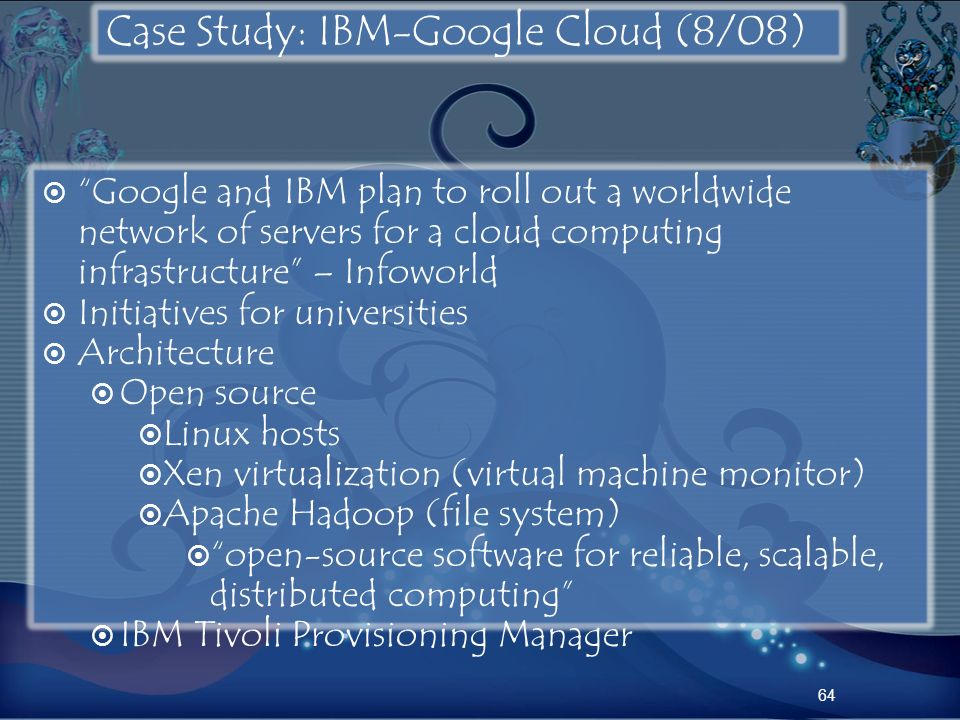 Case Study: IBM-Google Cloud (8/08)