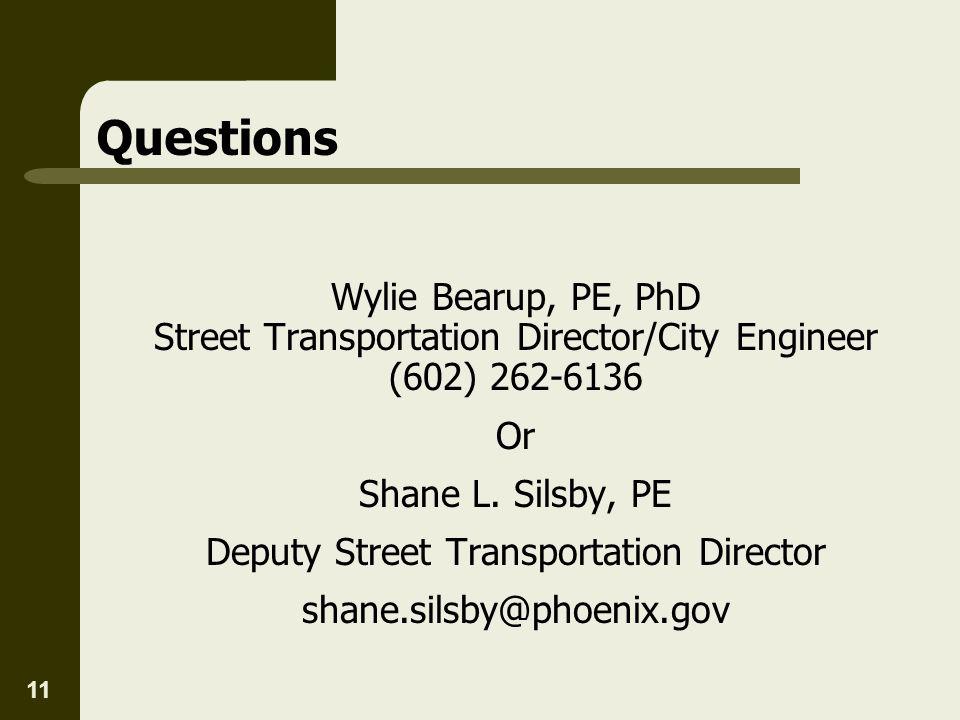 Deputy Street Transportation Director
