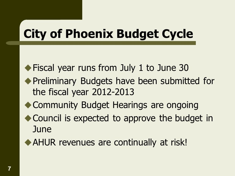 City of Phoenix Budget Cycle