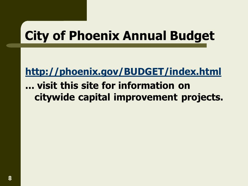 City of Phoenix Annual Budget