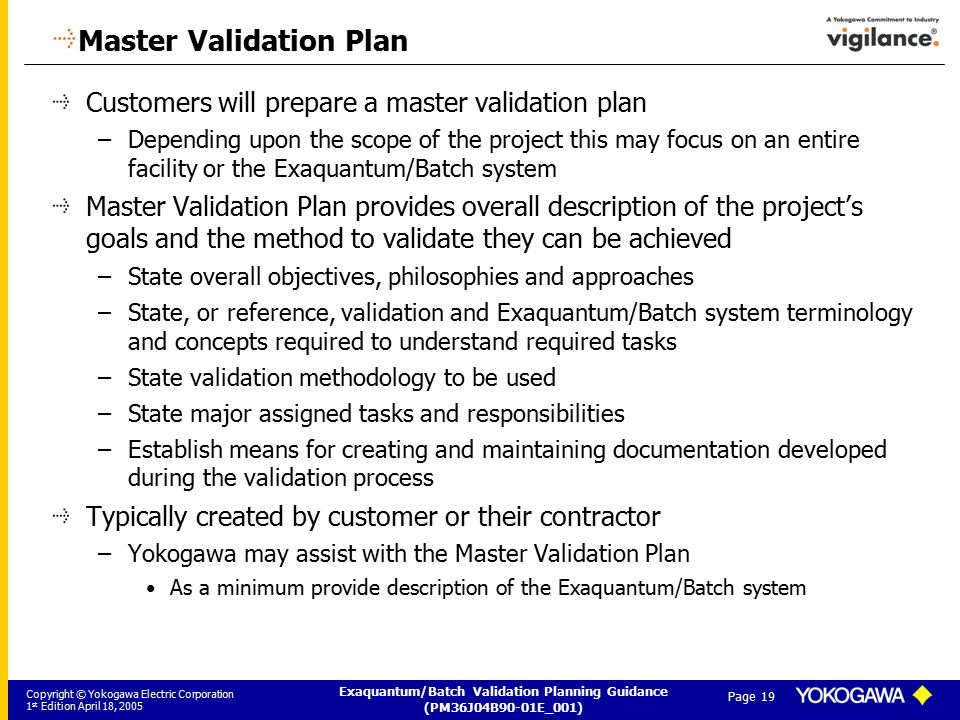 exaquantum batch validation planning guide ppt download